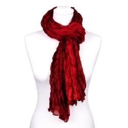 Knitterschal Halstuch Schal XXL Farbverlauf Rot