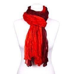 Seidenschal in Knitteroptik mit Farbverlauf rot 180x90 cm Crinkle