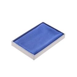 Einstecktuch blau