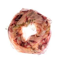 FRAAS Seidenschal Halstuch Schal koralle Floralprint reine Seide