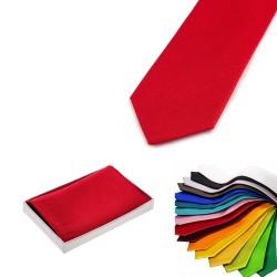 Herren-Set - Krawatte und Einstecktuch aus reiner Seide