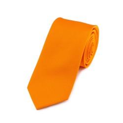 Seidenkrawatte orange, mandarine, reine Seide, unifarben, Herren