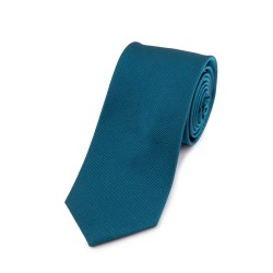 Seidenkrawatte Petrol, blaugrün, reine Seide, unifarben, einfarbig