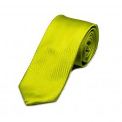 Seidenkrawatte grün limone reine Seide unifarben einfarbig 150x7,5 cm Herren
