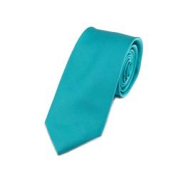 Seidenkrawatte türkisblau blautürkis blau türkis reine Seide unifarben einfarbig 150x7,5cm