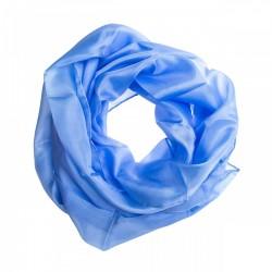 Seidenschal Halstuch Schal kurz hellblau ca. 150x35cm reine Seide