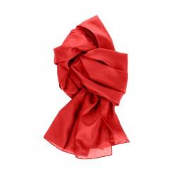 Seidenschal 150x35cm rot einfarbig reine Seide uni