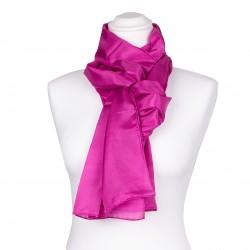pinker Seidenschal 100% reine Seide 180x45cm unifarben