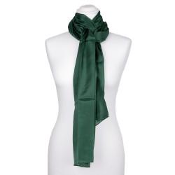 Seidenschal Waldgrün Dunkelgrün 100% reine Seide 180x45cm uni einfarbig