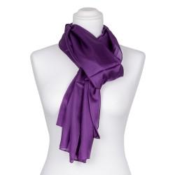violetter Seidenschal 100% reine Seide lila 180x45cm