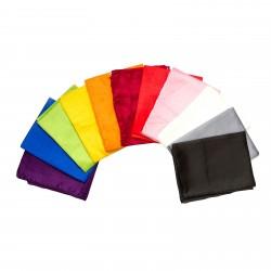 3er-Set Seidenschals verschiedene Farben 100% reine Seide 180x90cm einfarbig