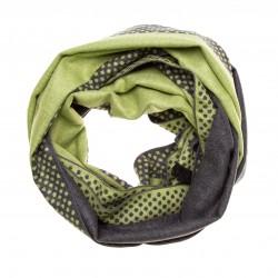 Schal Seidenflanell Punkte grau grün