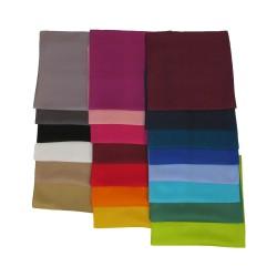 3er-Set Seidentuch Halstuch Twill 70x70 cm einfarbig unifarben reine Seide