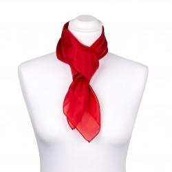 Seidentuch rot tiefrot 100% reine Seide 90x90cm unifarben