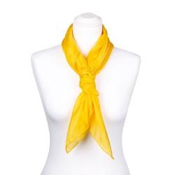 Seidentuch indisch gelb 100% reine Seide 90x90cm Damen unifarben
