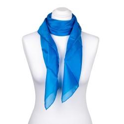 Seidentuch blau brillantblau 100% reine Seide 90x90cm