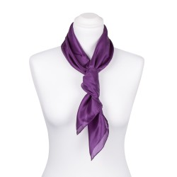 Seidentuch violett lila 100% reine Seide 90x90cm Damen einfarbig