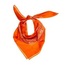 TINITEX Seidentuch Halstuch Schal Ornamente amberglow