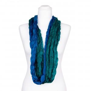 Knitterschal XXL Farbverlauf grün blau