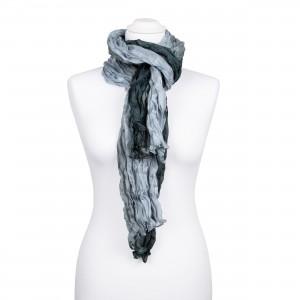 Knitterschal XXL Farbverlauf grau-anthrazit