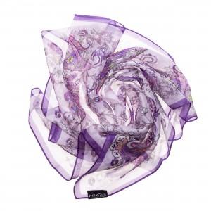 FRAAS Seidentuch Halstuch Schal Paisley lila violett
