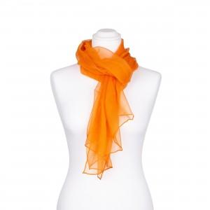Seidenschal Chiffon Orange