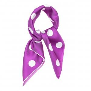 TINITEX Nickituch Halstuch violett gepunktet
