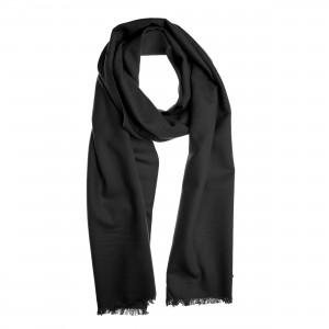 Winterschal Seidenflanell Schal schwarz