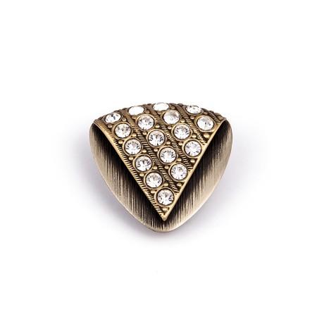 Schalclip Twinkle Silbern und Golden mit Kristallsteinen