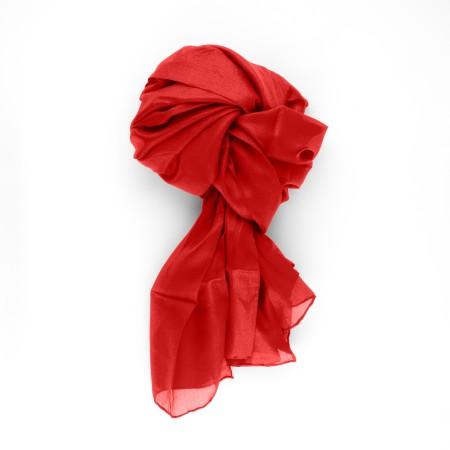 Seidenschal XXL 180x90cm feuerrot rot reine Seide einfarbig uni