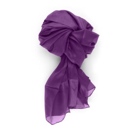 Seidenschal XXL (180x90) Violett