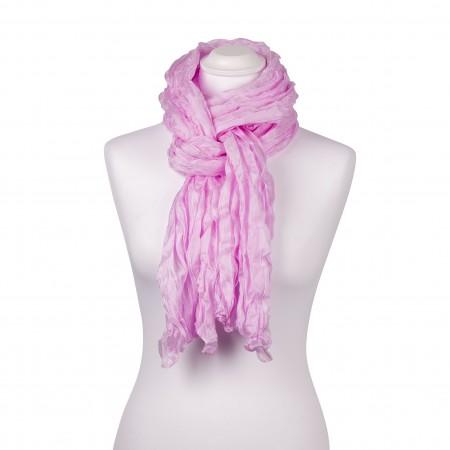 Knitterschal XXL pink rosa perle 100% reine Seide 180x90cm Damen