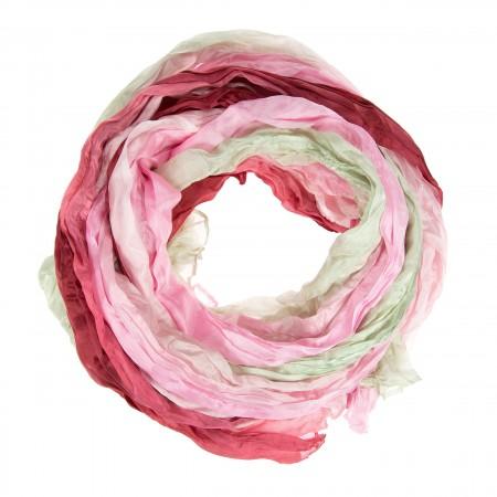 Knitterschal Halstuch Schal XXL Farbverlauf rosa-grau