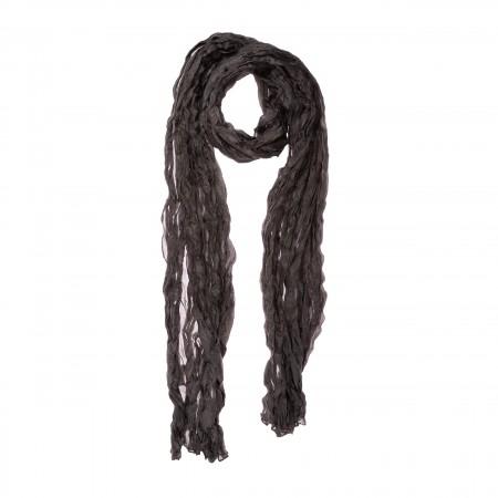 Knitterschal XXL Mokka dunkelbraun Braun 100% reine Seide 180x90cm uni einfarbig
