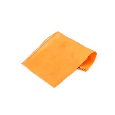 Kavalierstuch Einstecktuch Seide 28x28 cm Mandarine Orange