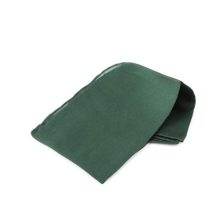 Einstecktuch 28x28cm waldgrün reine Seide einfarbig