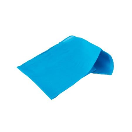 Einstecktuch 28x28cm türkisblau reine Seide einfarbig