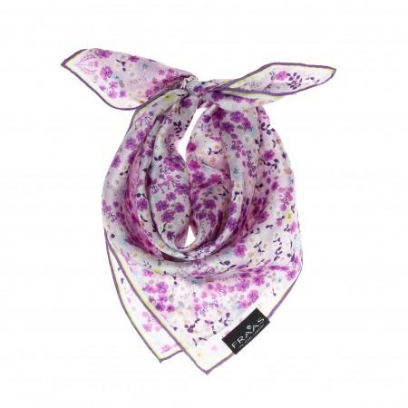 Nickituch lavendel Floralprint