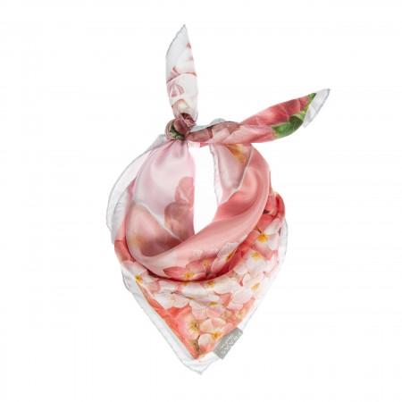 Nickituch Floralprint rosa
