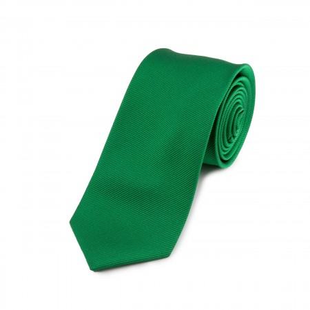Seidenkrawatte grün reine Seide unifarben einfarbig 150x7,5 cm