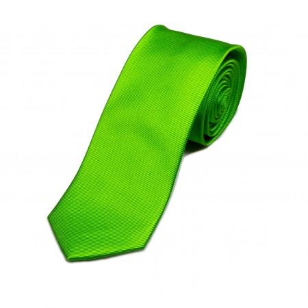 Seidenkrawatte grün limone reine Seide unifarben einfarbig 150x7,5 cm