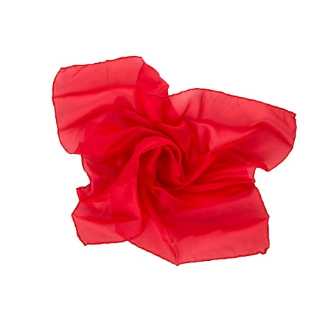 Nickituch Seidentuch rot tiefrot reine 100% reine Seide 55x55cm