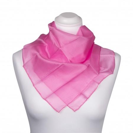 Nickituch 55 x 55 cm Altrosa pink reine Seide einfarbig rosa