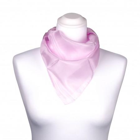 Nickituch Seidentuch perle rosa pink 100% reine Seide 55x55cm