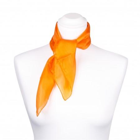 Nickituch Seidentuch orange 100% reine Seide 55x55cm Damen