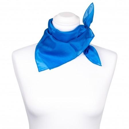 Nickituch Seidentuch blau brillantblau 100% reine Seide 55x55cm