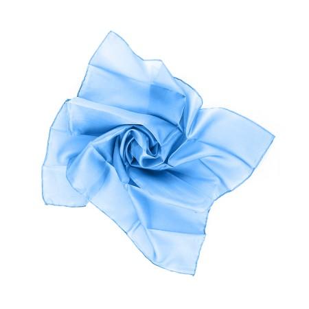Nickituch 55x55cm brillantblau blau reine Seide einfarbig unifarben