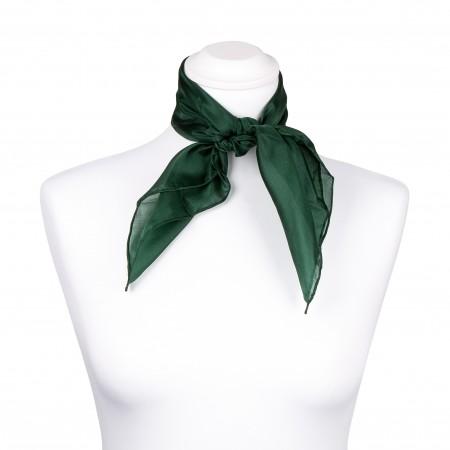 Nickituch Seidentuch grün waldgrün 100% reine Seide 55x55cm