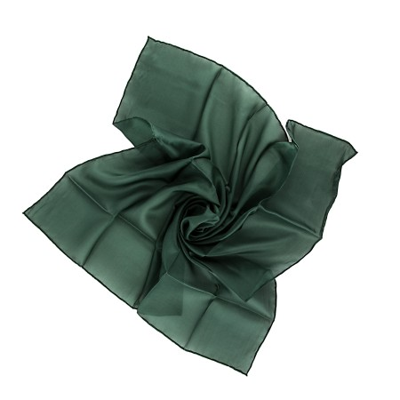 Nickituch 55x55cm waldgrün dunkelgrün Seide einfarbig