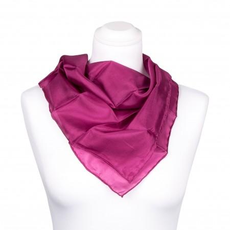 Nickituch purpur lila violett 100% reine Seide 55x55cm Damen einfarbig